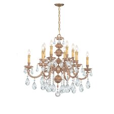 <strong>Crystorama</strong> Olde World 12 Light Candle Chandelier