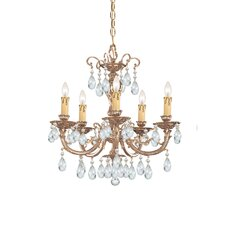 <strong>Crystorama</strong> Olde World 5 Light Candle Chandelier