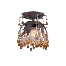 Melrose Crystal 1 Light Semi Flush Mount