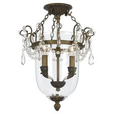 New Town 2 Light Semi Flush Mount