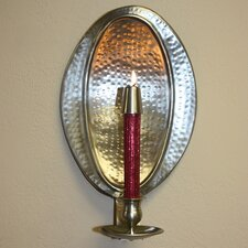 Oval Hammered Wall Sconce