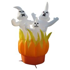 Ghosts On Fire Inflatable Halloween Decoration