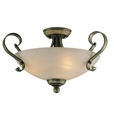 Brookfield 3 Light Semi Flush Mount