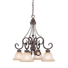Brookshire Manor 4 Light Down Chandelier