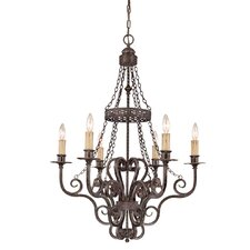 Brookshire Manor 6 Light Chandelier