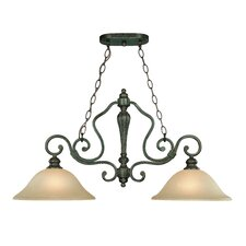 Old Burlington 2 Light Chandelier
