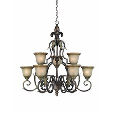 <strong>Jeremiah</strong> Devereaux 9 Light Chandelier