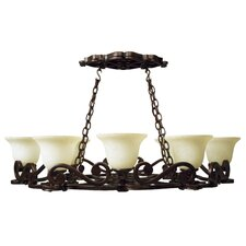 Toscana 8 Light Pot Rack Light