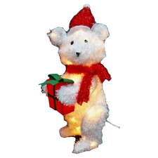 Xmas Fluffy Teddy Bear Christmas Decoration