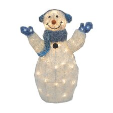 Light-up Snowman with Earmuffs and Scarf