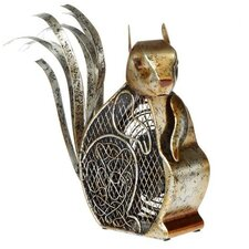 Squirrel Figurine Table Top Fan