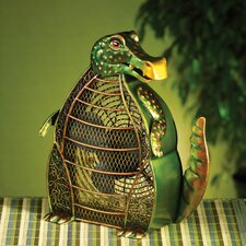Alligator Figurine Table Top Fan