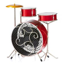 Drum Kit Figurine Table Top Fan