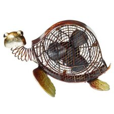 <strong>Deco Breeze</strong> Sea Turtle Figurine Table Top Fan