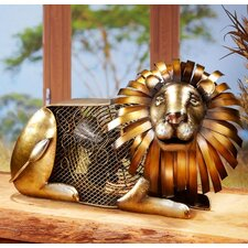 <strong>Deco Breeze</strong> Lion Figurine Table Top Fan