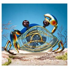 Blue Crab Figurine Table Top Fan