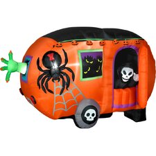 Airblown Animated Halloween Camper