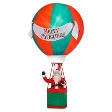 Airblown Realistic Santa in Hot Air Balloon Christmas Decoration