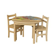 Round High Pressure Laminate Table (Adjustable Legs)