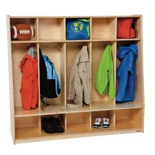 Tip-Me-Not Five Section Seat Locker