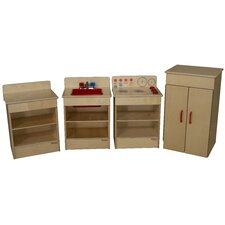 <strong>Wood Designs</strong> 4 Piece Tot Kitchen Appliance Set
