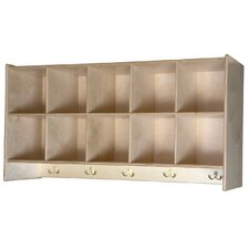 10 Compartment Cubby Wall Locker
