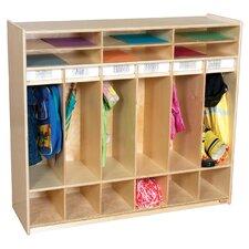 Open 6 Shelf Locker