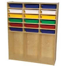21 Compartment Cubby Locker