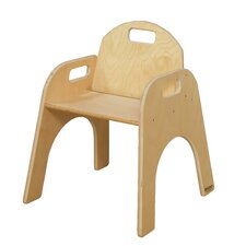"Woodie 13"" Plywood Classroom Stackable Tot Chair"