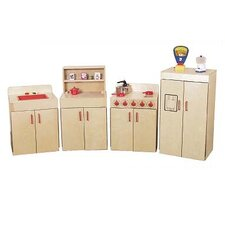 4 Piece Classic Appliances Set with Two Counters