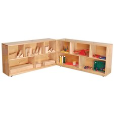 "24"" Maple Folding Storage Unit"