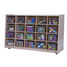 <strong>Wood Designs</strong> Tip-Me-Not Twenty Tray Storage Unit