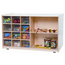 <strong>Wood Designs</strong> Twelve Tray Double Mobile Storage Unit