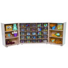 <strong>Wood Designs</strong> Tri Fold Storage Unit with Clear Trays