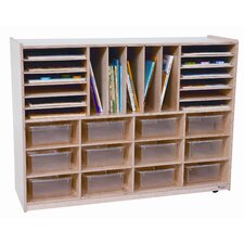 <strong>Wood Designs</strong> Twelve Tray Multi Sectioned Storage Unit