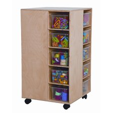 <strong>Wood Designs</strong> Space Saver Cubby Spinner with Clear Trays