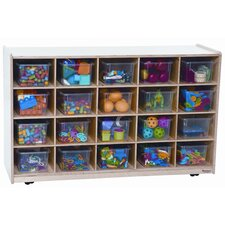 Twenty Tray Mobile Shelves Island