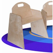 "<strong>Wood Designs</strong> Woodie 7"" Plywood Classroom Stackable Tot Chair (Set of 2)"