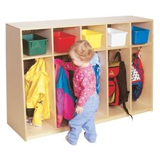 Tip-Me-Not Five Section Locker