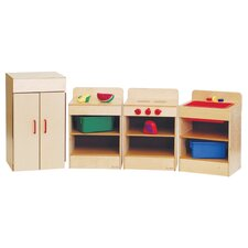 Healthy Kids Four Tot Appliances with Standard Hutch