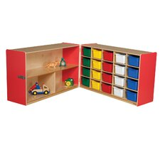 <strong>Wood Designs</strong> Half and Half Storage Unit with 20 Assorted Trays