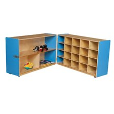 <strong>Wood Designs</strong> Half and Half Storage Unit without Trays