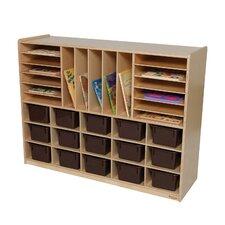 <strong>Wood Designs</strong> Natural Environment Multi Storage Unit with Chocolate Trays