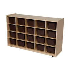 <strong>Wood Designs</strong> 20 Tray Storage Unit