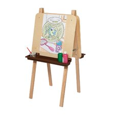 <strong>Wood Designs</strong> Natural Environment Double Adjustable Easel with Brown Tray