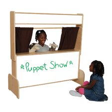 Natural Environment Puppet Theater with Brown Curtains