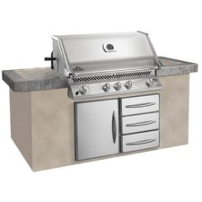 Prestige Built-in Grill with Rear Burner
