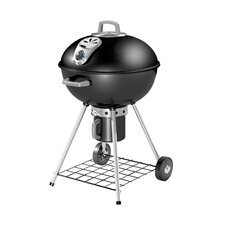Cart Style Charcoal Kettle Grill with Folding Side Shelf