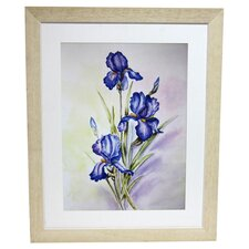 Premier Blue Irises Framed Graphic Art