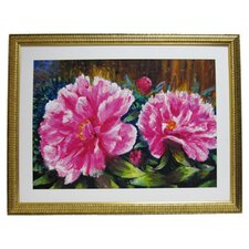 Premier Blooming Peony Framed Painting Print